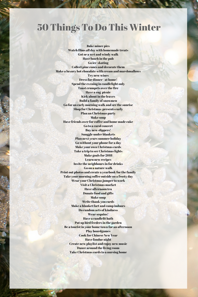 50 things to do this winter by Tiddler & Fox