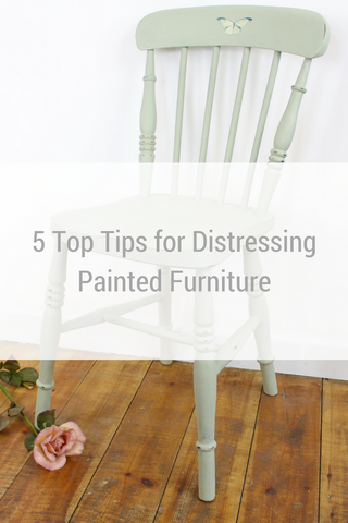 5 Top Tips for Distressing Painted Furniture by Tiddler & Fox