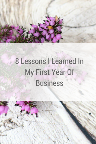 8 lessons I learned in my first year of business by Tiddler & Fox