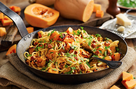 Butternut Carbonara recipe by Tesco on the Tiddler & Fox blog