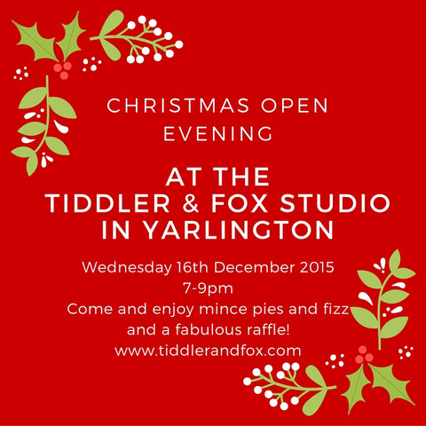 Tiddler and Fox Christmas Open Evening 16th December 2015