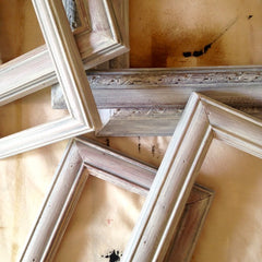 Picture Frames Being Upcycled by Tiddler & Fox