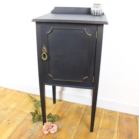Black painted Bedside Cabinet