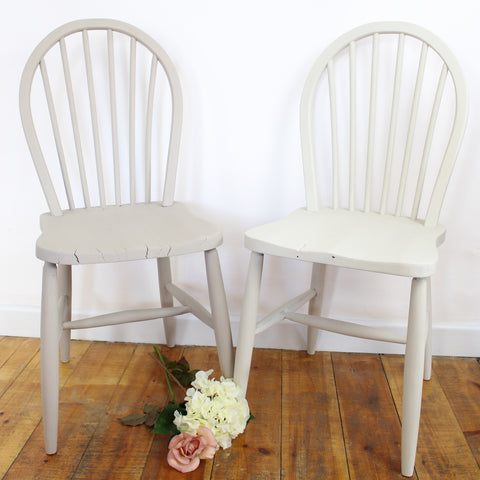 Taupe and White Ercol Chairs