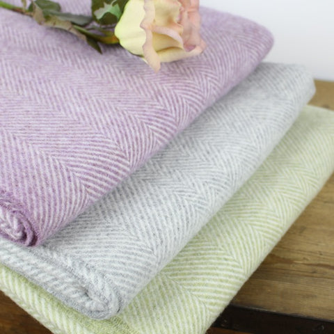 100% Merino Wool Throws by Tiddler & Fox