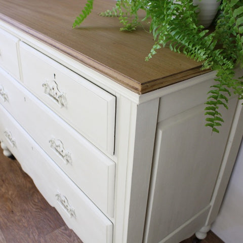 Hand painted chest of drawers by Tiddler & Fox