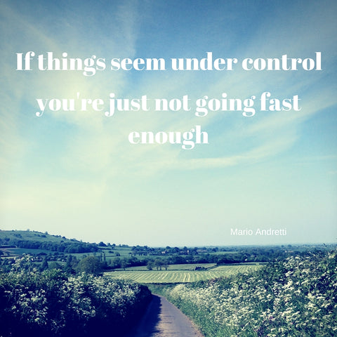 If things seem under control you're just not going fast enough by Tiddler & Fox