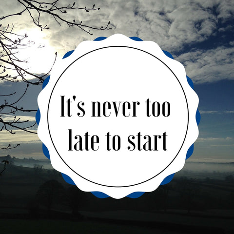 It's never too late to start quote by Tiddler & Fox