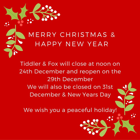 Merry Christmas from Tiddler & Fox