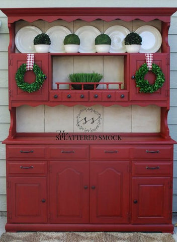 Red Dresser by The Splattered Smock