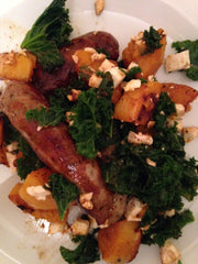 Sausage, Squash, Feta and Kale recipe