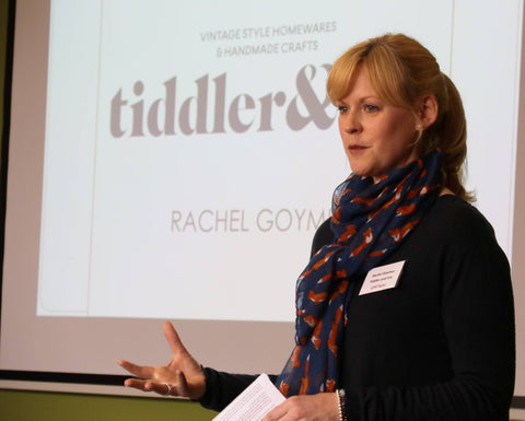 Rachel of Tiddler & Fox Vintage and handmade business speaking at the Love Digital Conference March 2016