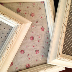 Upcycled Shabby Chic Picture Frames by Tiddler & Fox