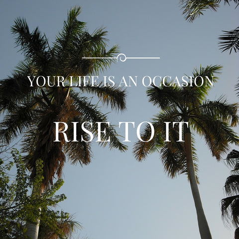 Your Life is an Occasion, Rise to It by tiddlerandfox.com