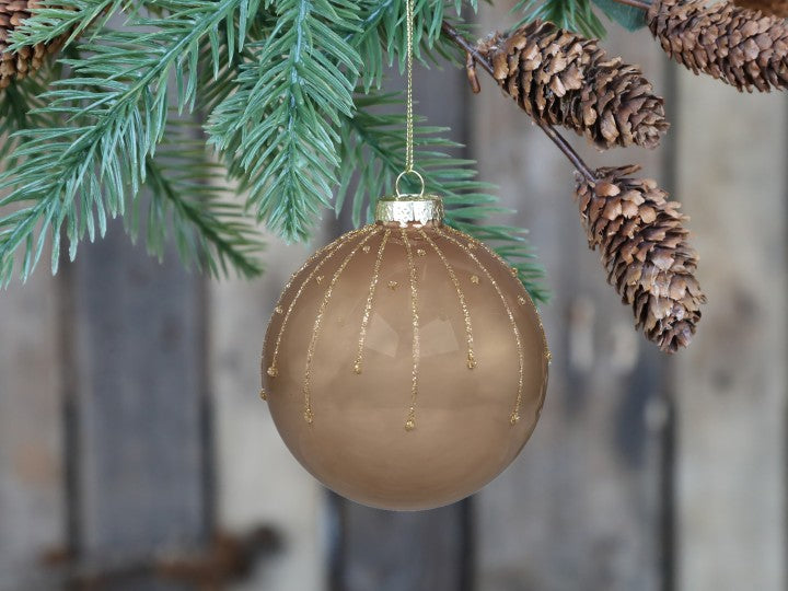 Dark Gold Christmas Tree Bauble