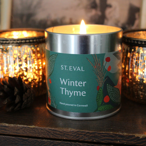 Christmas Scented Winter Thyme Candle Tins