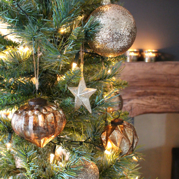 Large Gold Sparkly Christmas Bauble