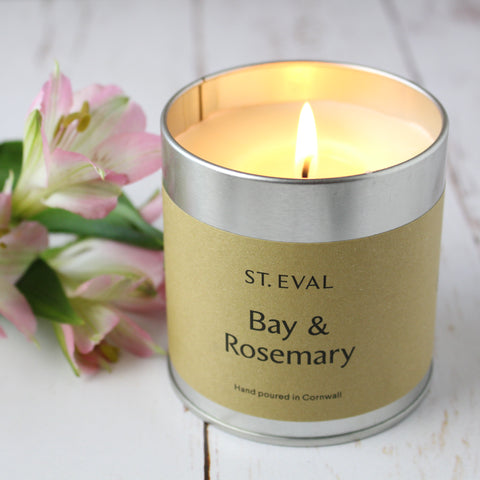 St Eval Bay & Rosemary Scented Candle Tins