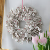 Pretty Handmade Fabric Wreath, Spring Wreath