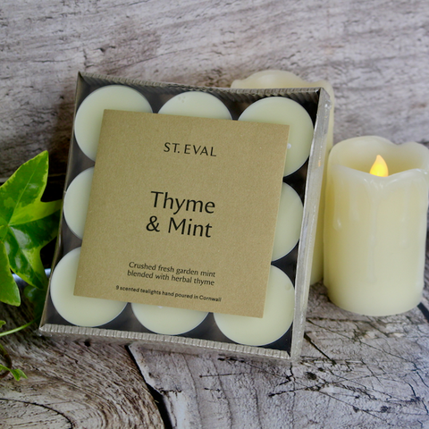 St Eval Candle Co - Scented T-Lights - Thyme and Mint