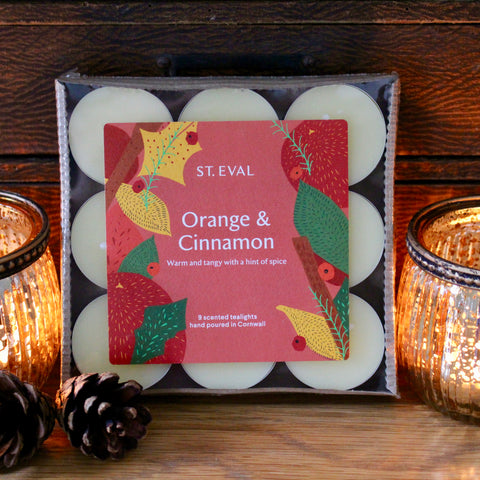 Christmas Scented Tealights - Orange & Cinnamon