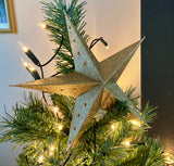 Large Gold Paper Stars, Christmas Tree Toppers