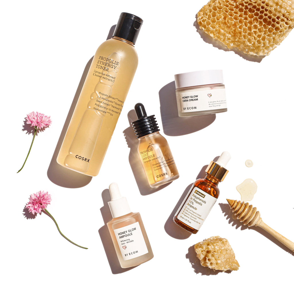 Bee Kind to Your Skin: Honey, Propolis, and Royal Jelly