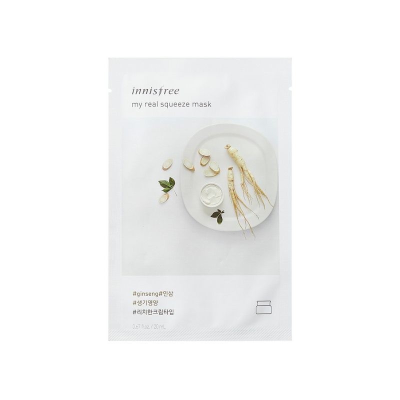 INNISFREE My Real Squeeze Mask Ginseng Switzerland