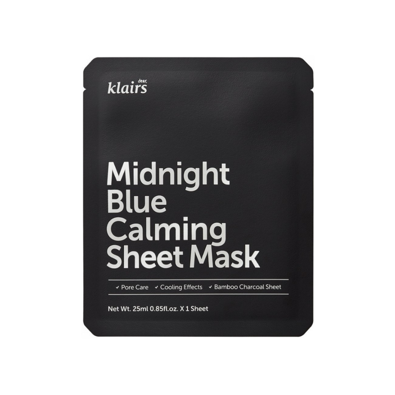 [dear,KLAIRS] Midnight Blue Calming Sheet Mask Switzerland