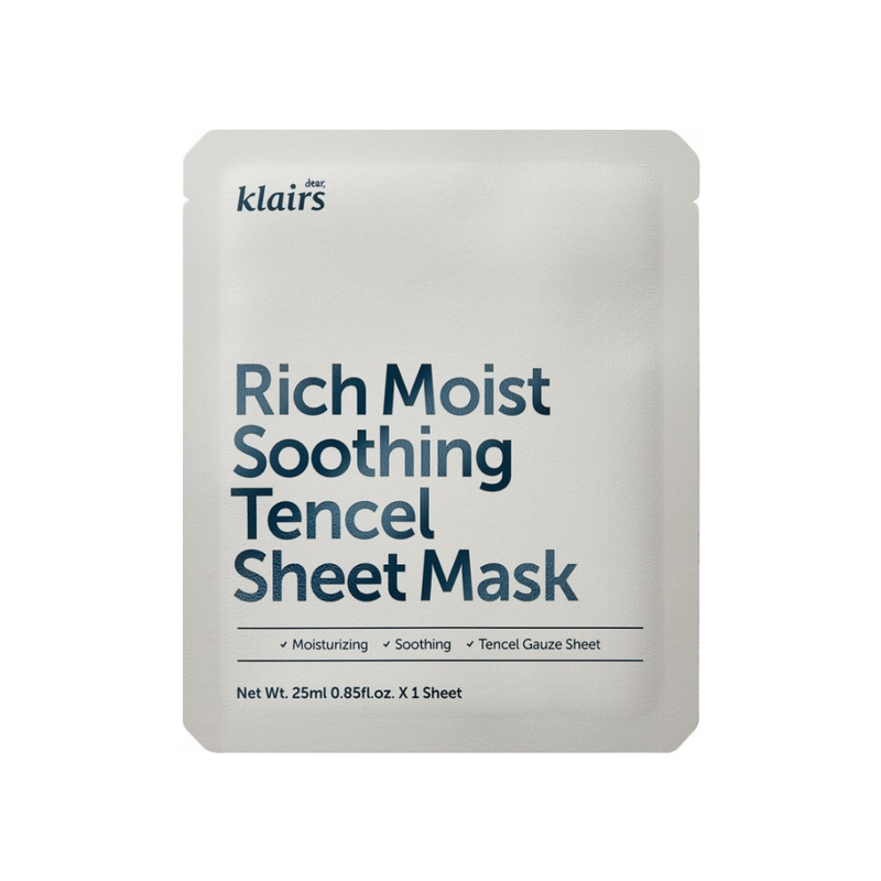 [dear,KLAIRS] Rich Moist Soothing Tencel Sheet Mask Switzerland