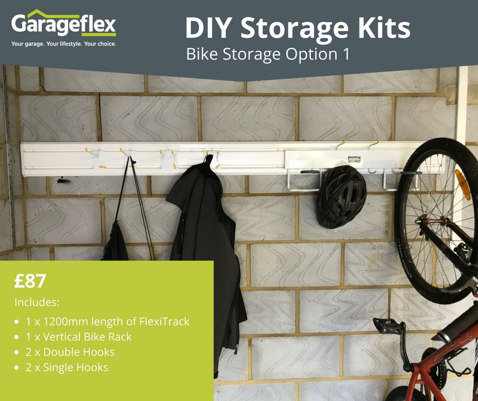 Garageflex DIY Storage Kits: Bike Storage Option 1