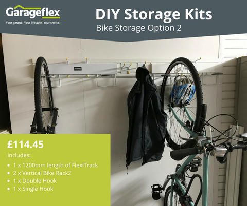 Garageflex DIY Storage Kits: Bike Storage Option 2