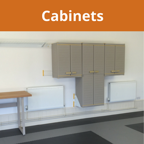 Garageflex offer Cabinets for your Garage Wall