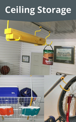DIY Garageflex Ceiling Storage Hooks Hoists Hangers Racks