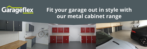 Metal storage cabinets from Garageflex for your garage