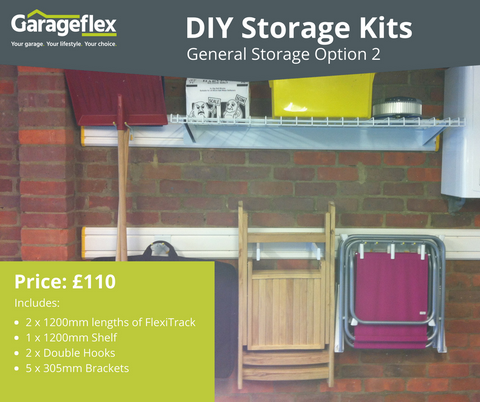 Garageflex DIY Storage Kits: General Storage Option 2