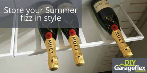 Store your Summer fizz in style with the Garageflex Wall Mounted Wine Rack