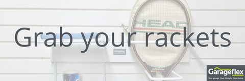 Tennis storage available from Garageflex