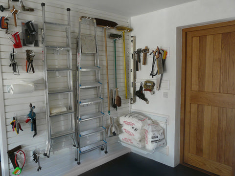 Storing drills, sanders and larger tools in your garage