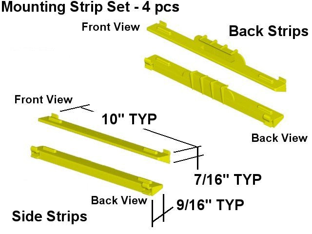 FX1010 Cabinet Shelf Mounting Strips x 4