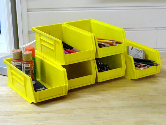 Small storage bins for your workbench, countertop or garage wall