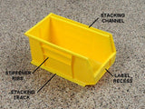 Medium storage bins for storing small items in your garage
