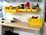 Large yellow storage bin for storing items in your garage by Garageflex