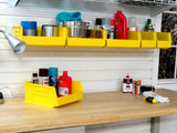 Storage Bin Docking Station for installing on your garage wall by Garageflex