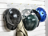 Helmet storage for your garage wall