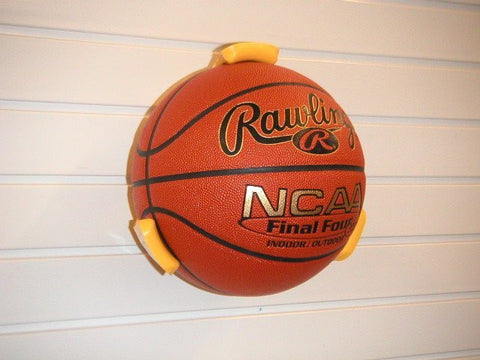 Large Ball Holder for storing basketballs on your garage wall