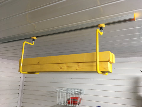 The FX9000 2 x D Hanger Hook with PowerTrack is a complete solution for storing items on your garage ceiling.