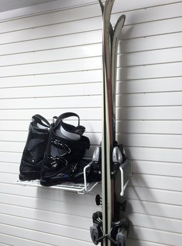 Ski Storage for your garage wall by Garageflex