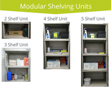 These co-ordinated and durable shelves enable you to create an entire storage centre anywhere in your garage.