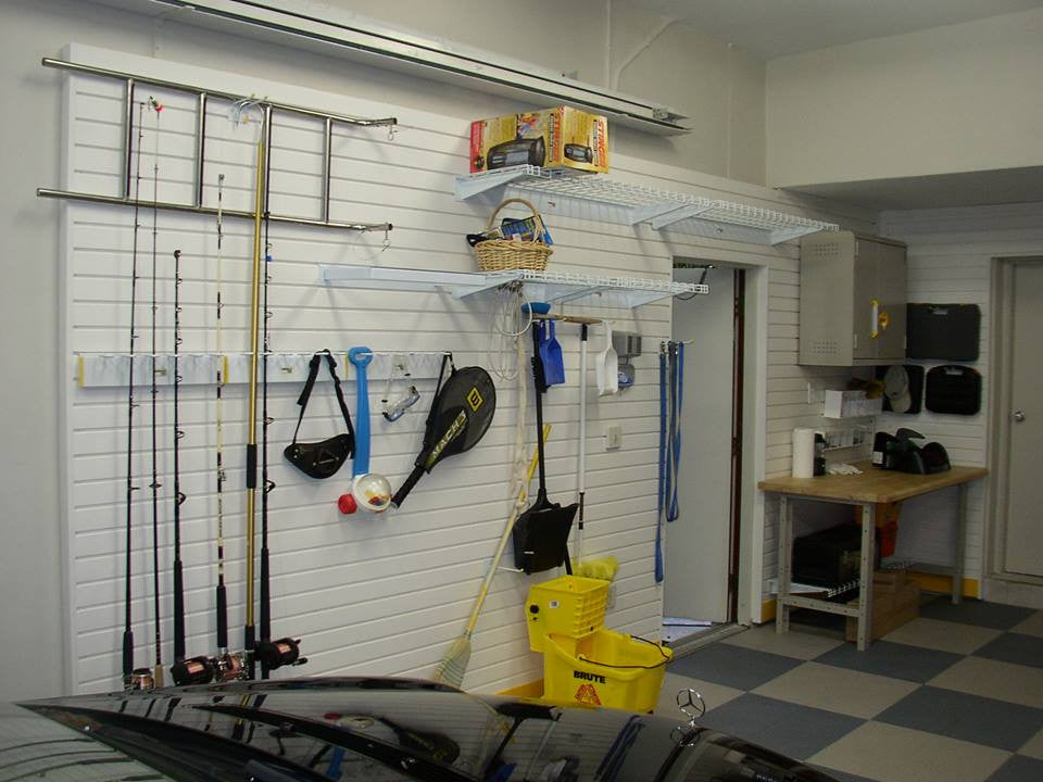Garage Fishing Rod Storage Unit on FlexiTrack by Garageflex